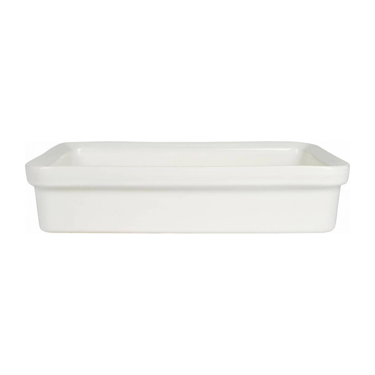 Oven dish made of faience 31x22cm, white n°2