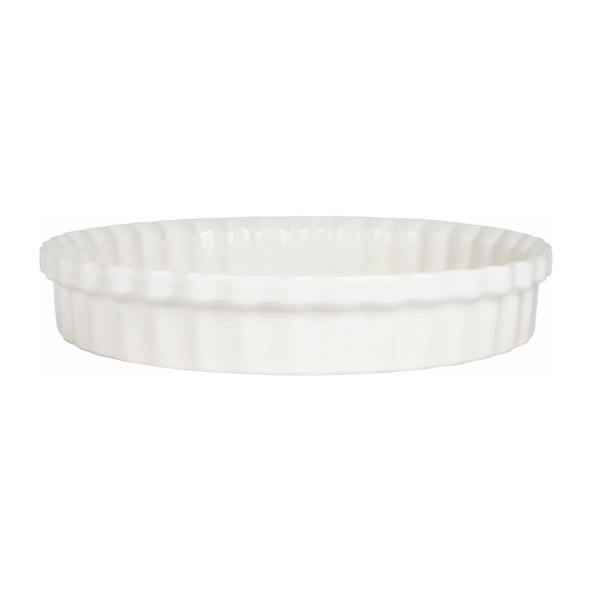 Pie dish made of faience 28cm, white n°1