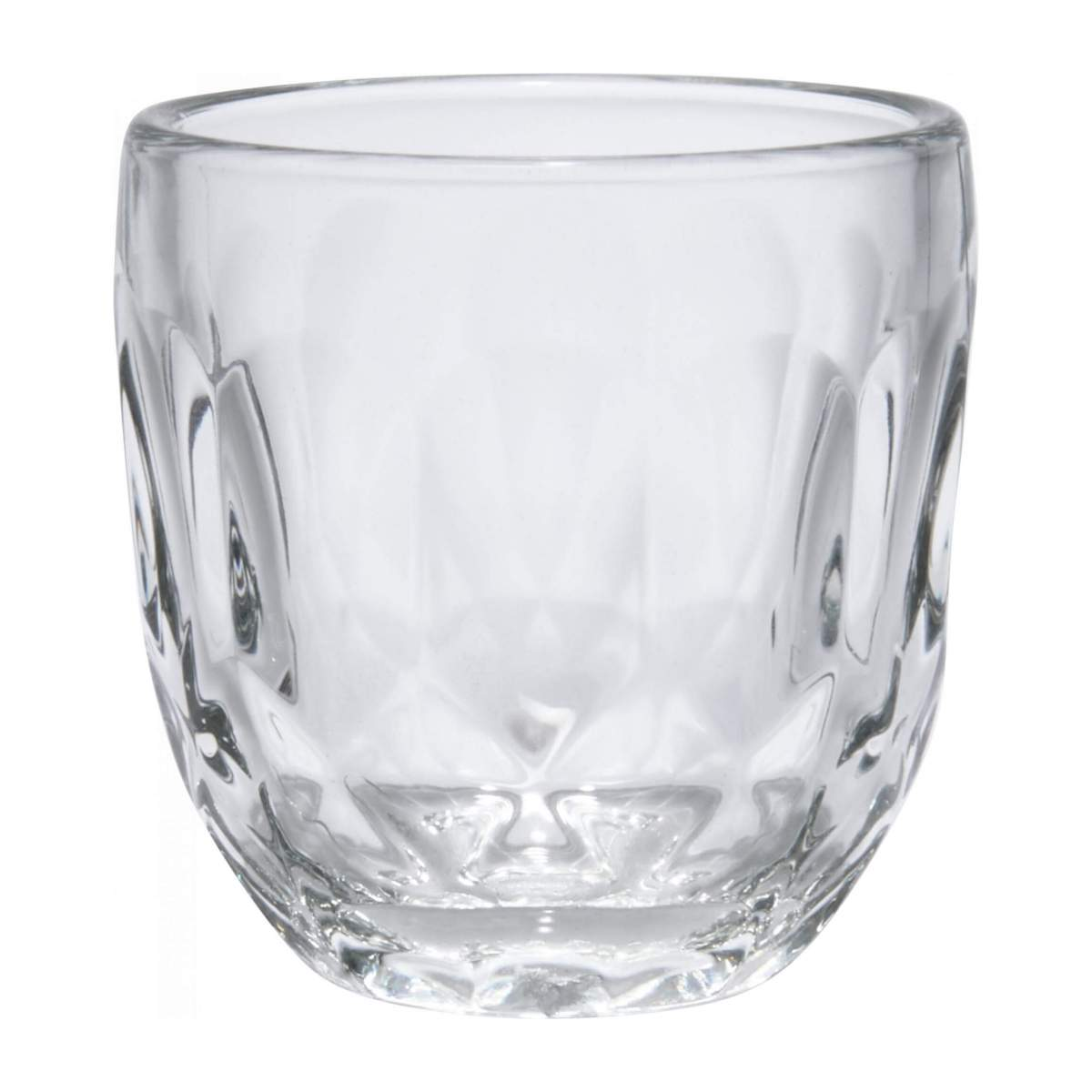 Expresso cup made of glass with facets n°1