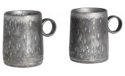 Lot de 2 tasses à café - Noir