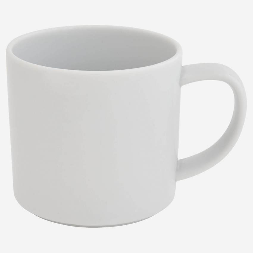 Porcelain coffee cup - White