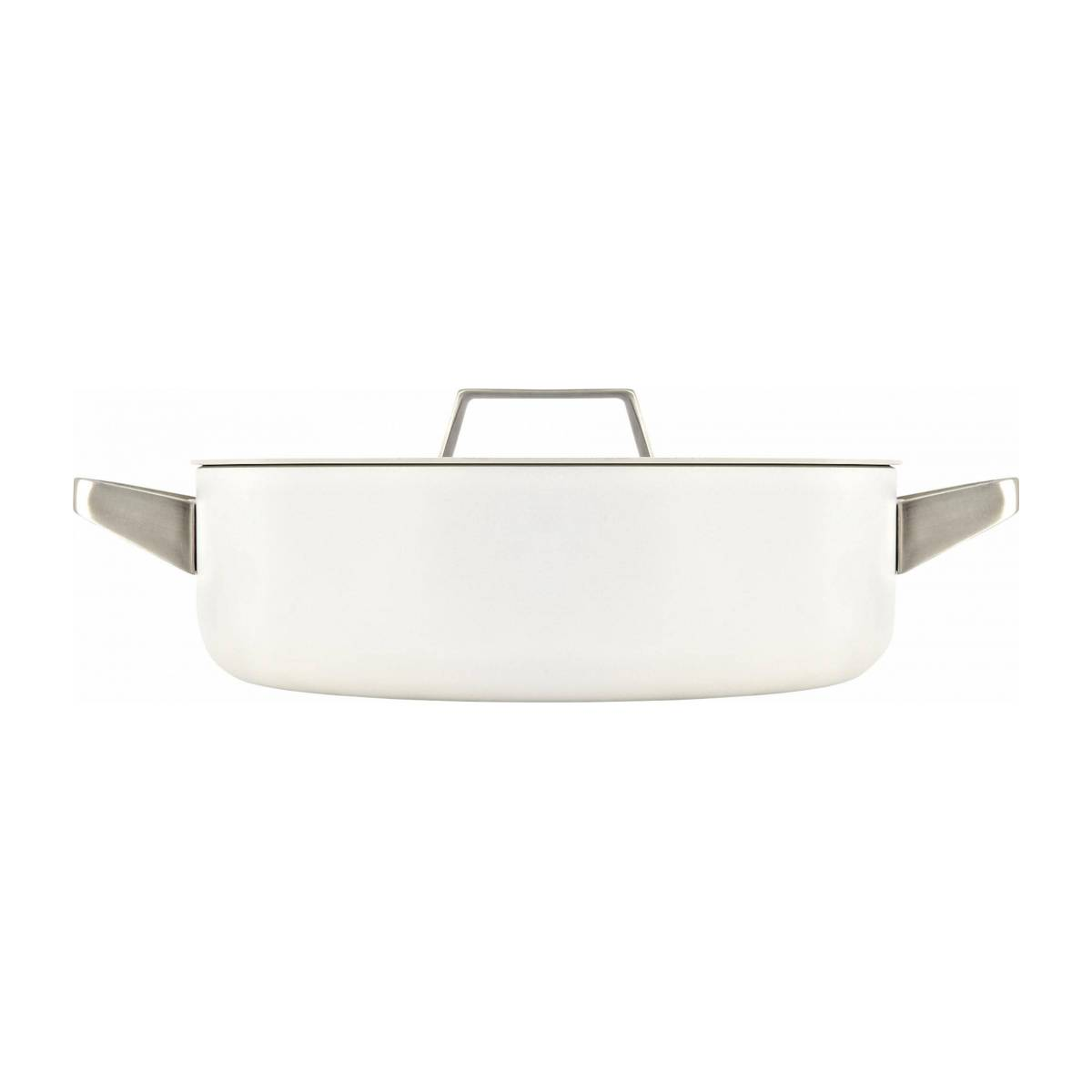 White aluminium saucepan and lid 26 cm with inner coating in ceramic n°3