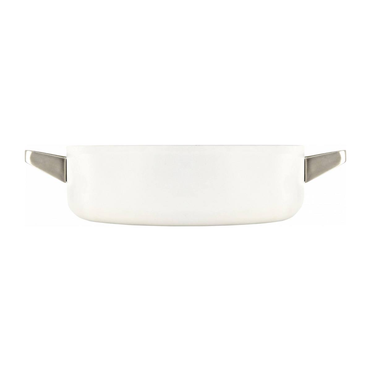 White aluminium saucepan and lid 26 cm with inner coating in ceramic n°2