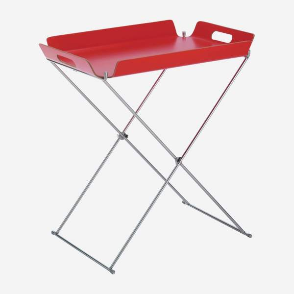 Metal tray stand - 56 cm - Silver