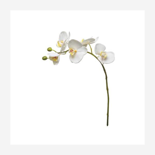 Artificial Phaalenopsis white orchid 47.5cm