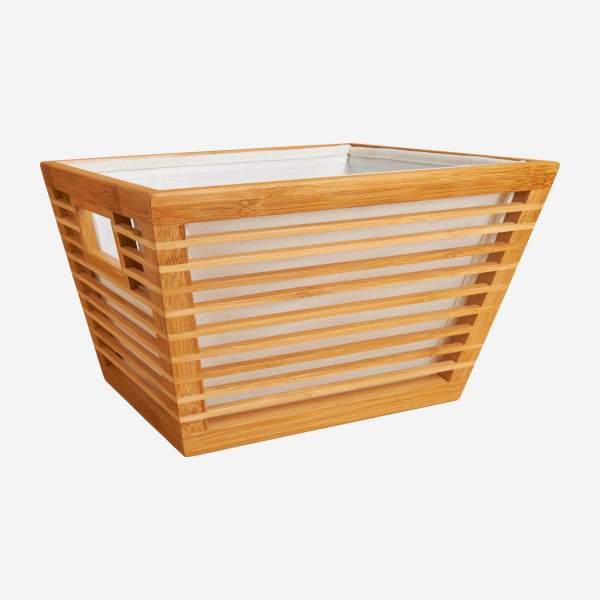 Rectangular bamboo basket 33x25 cm