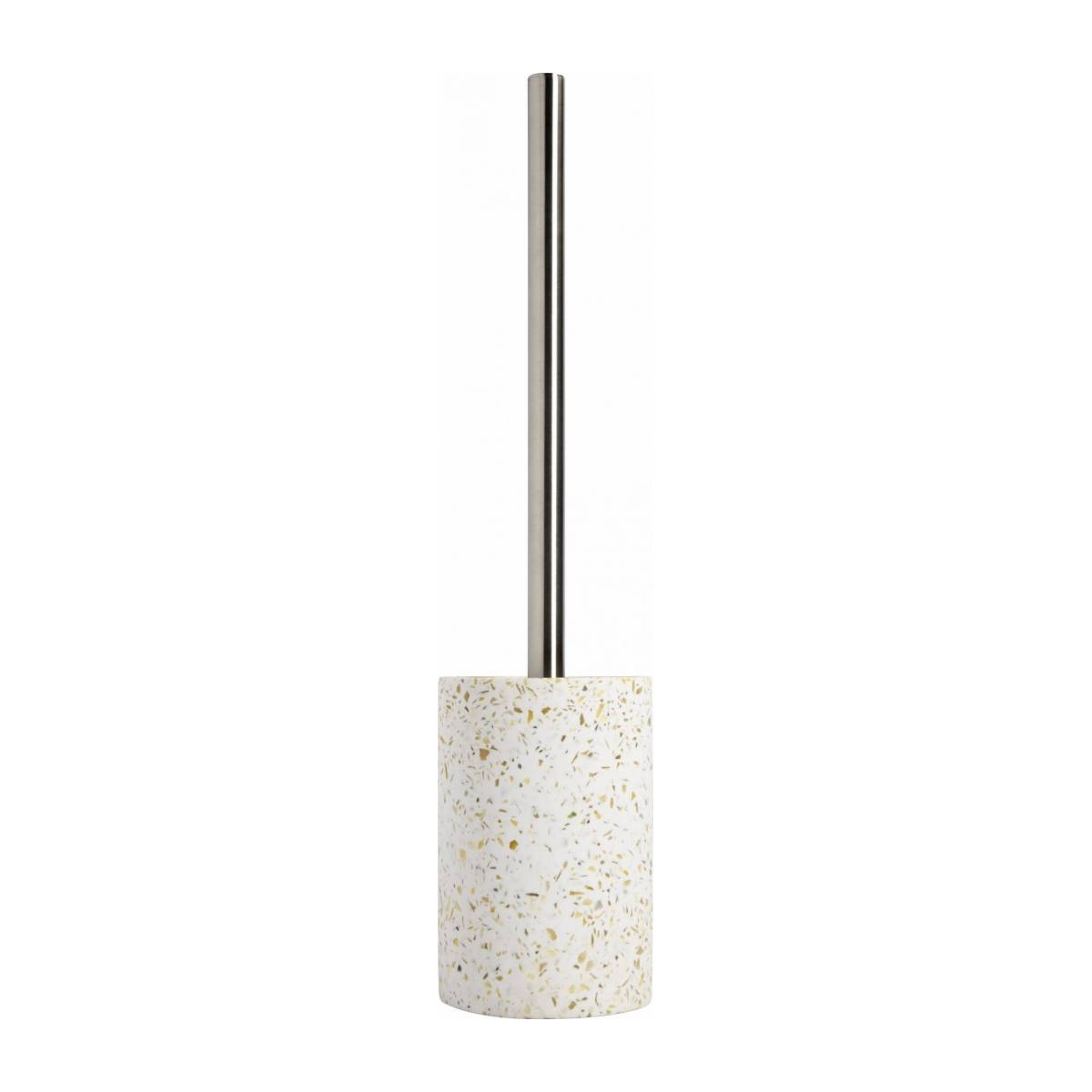 Toilet brush made in polyresin wiht a terrazzo look n°2