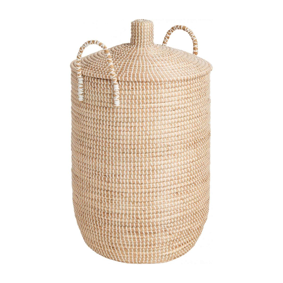 Basket 70cm with cover made of seagrass n°1