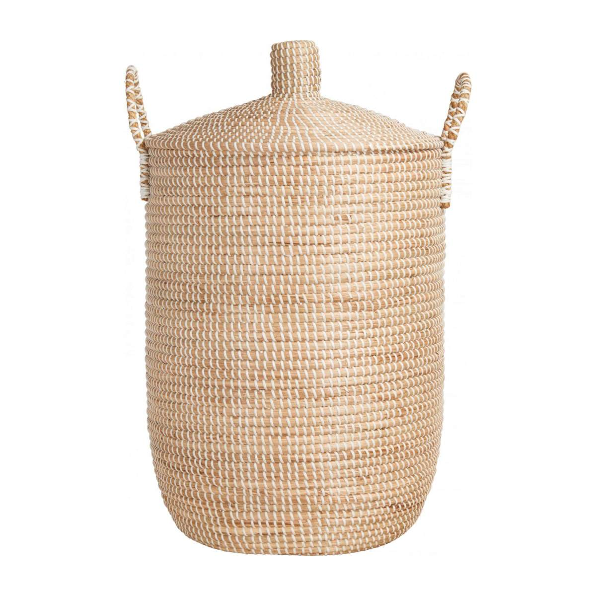 Basket 70cm with cover made of seagrass n°2