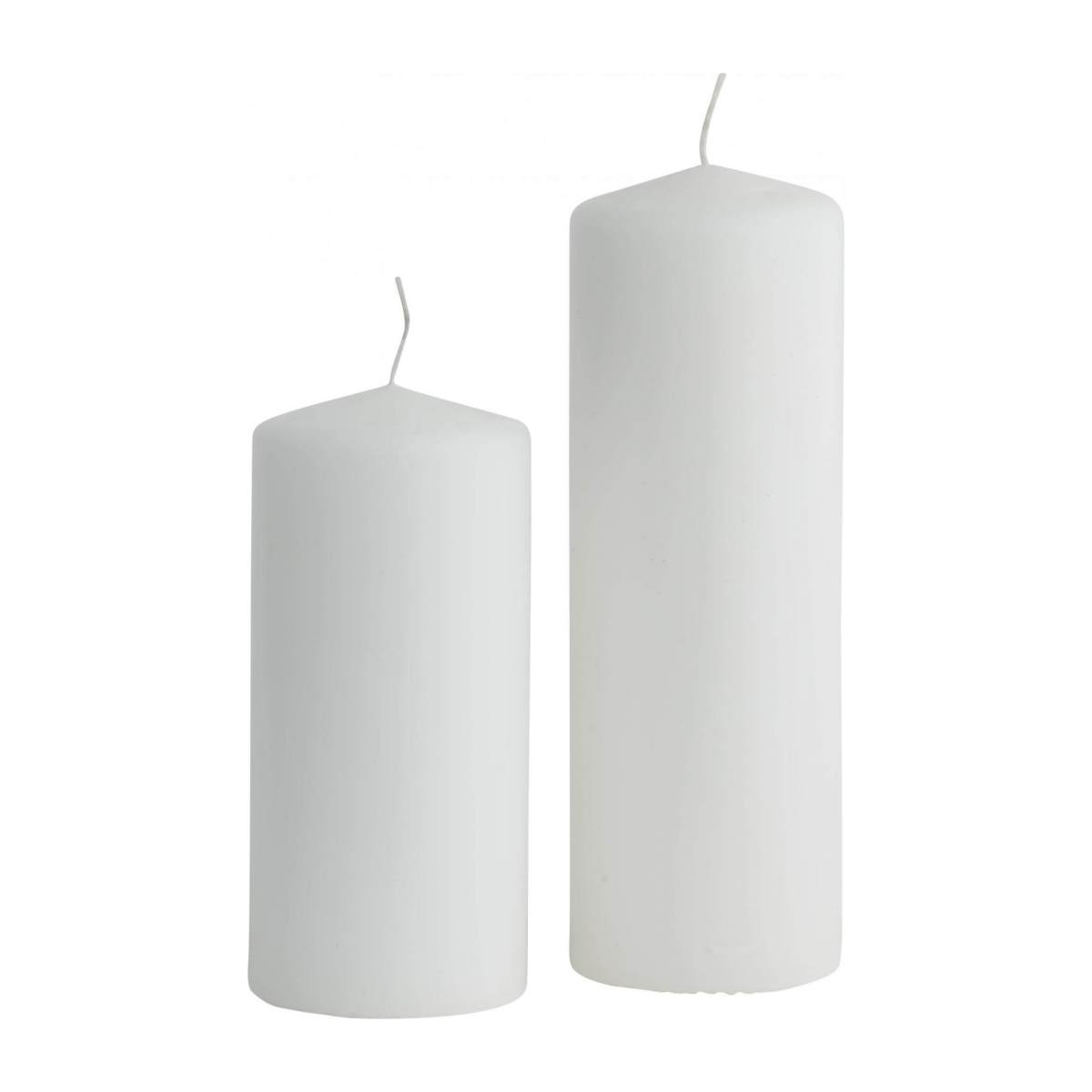 Bougie cylindre 10cm blanche n°2