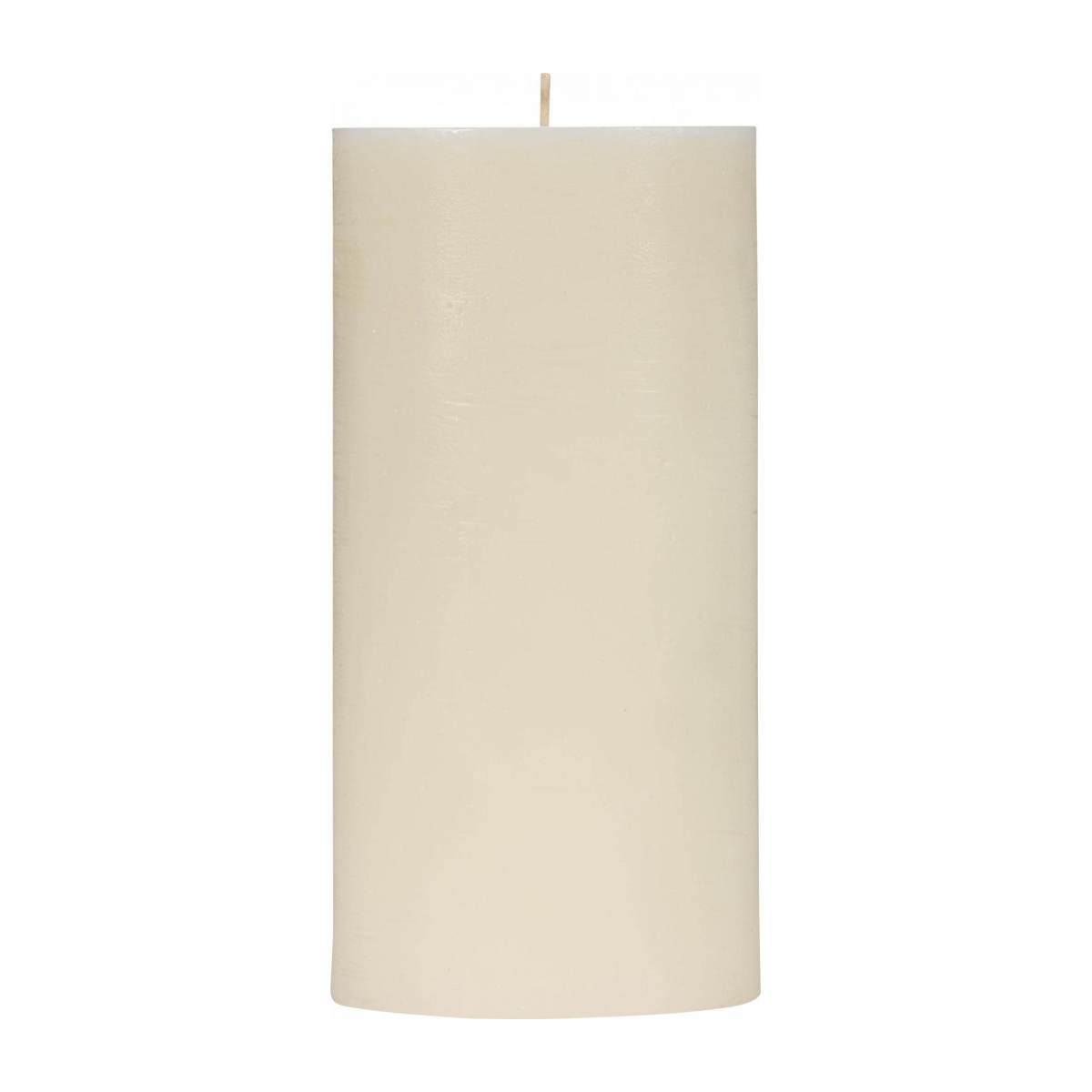 Bougie cylindre 20cm blanche n°2