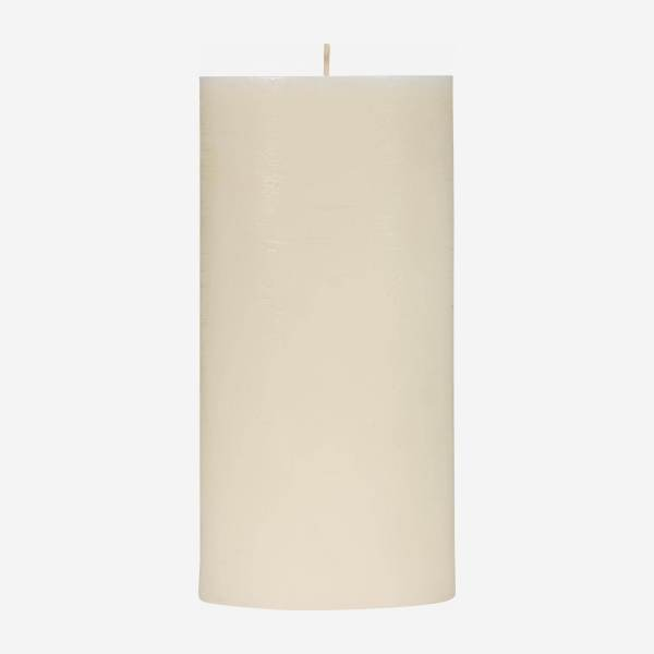 Bougie cylindre 20cm blanche