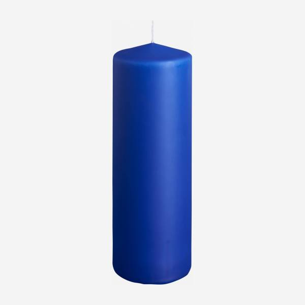 Cylindrical candle 19cm, blue