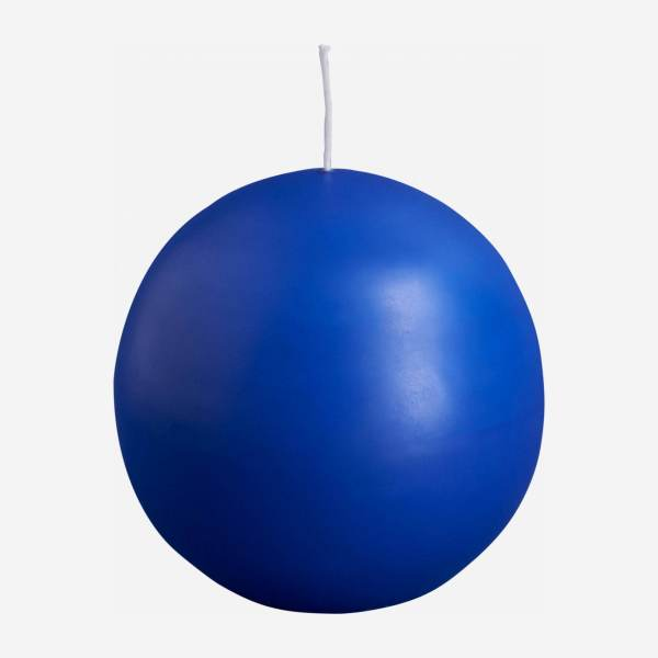 Ball candle 10cm, blue