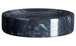 Soap holder made of marble, black