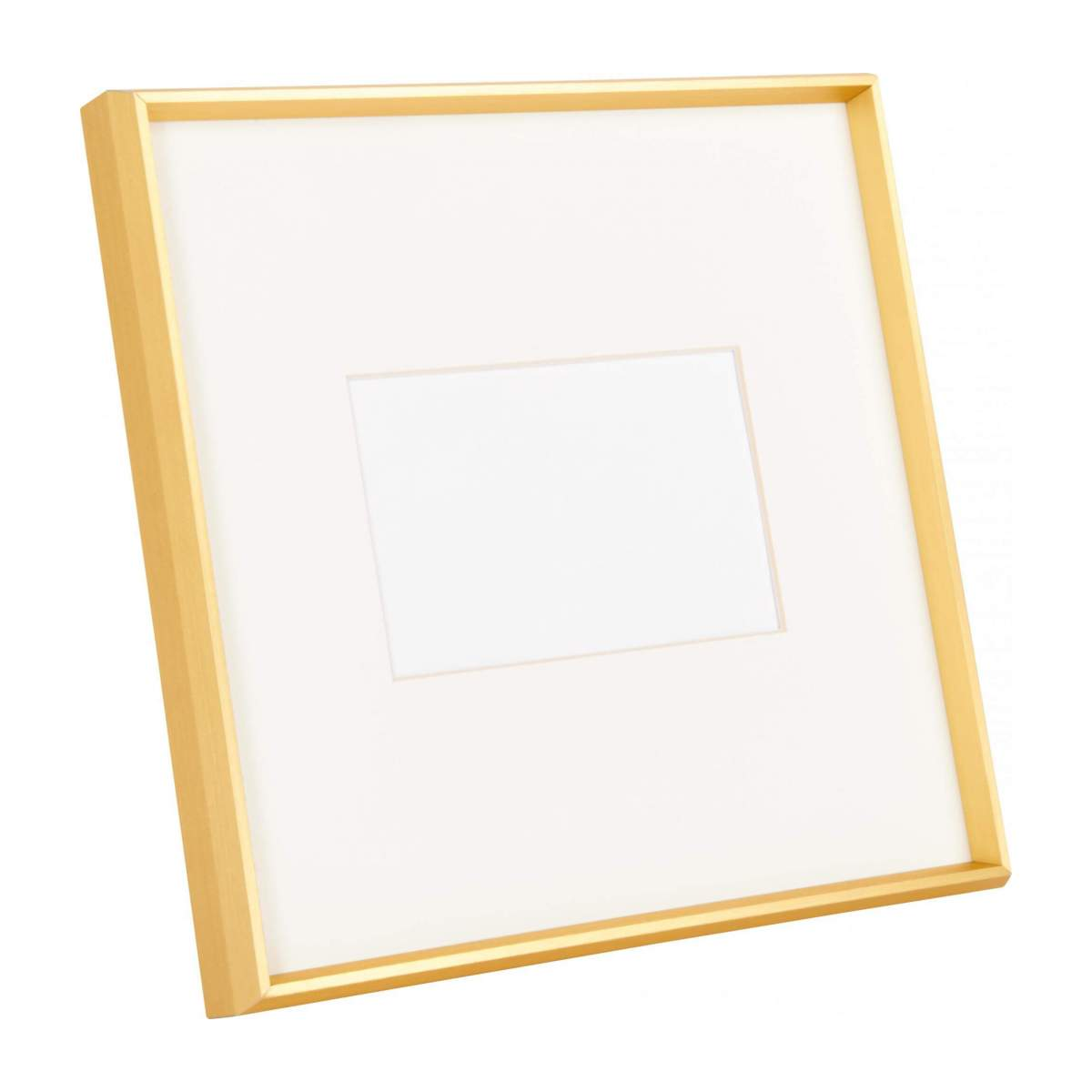 Photo frame made of metal 28X28, golden n°1
