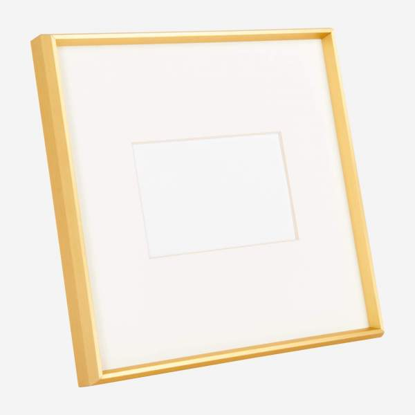 Photo frame made of metal 28X28, golden