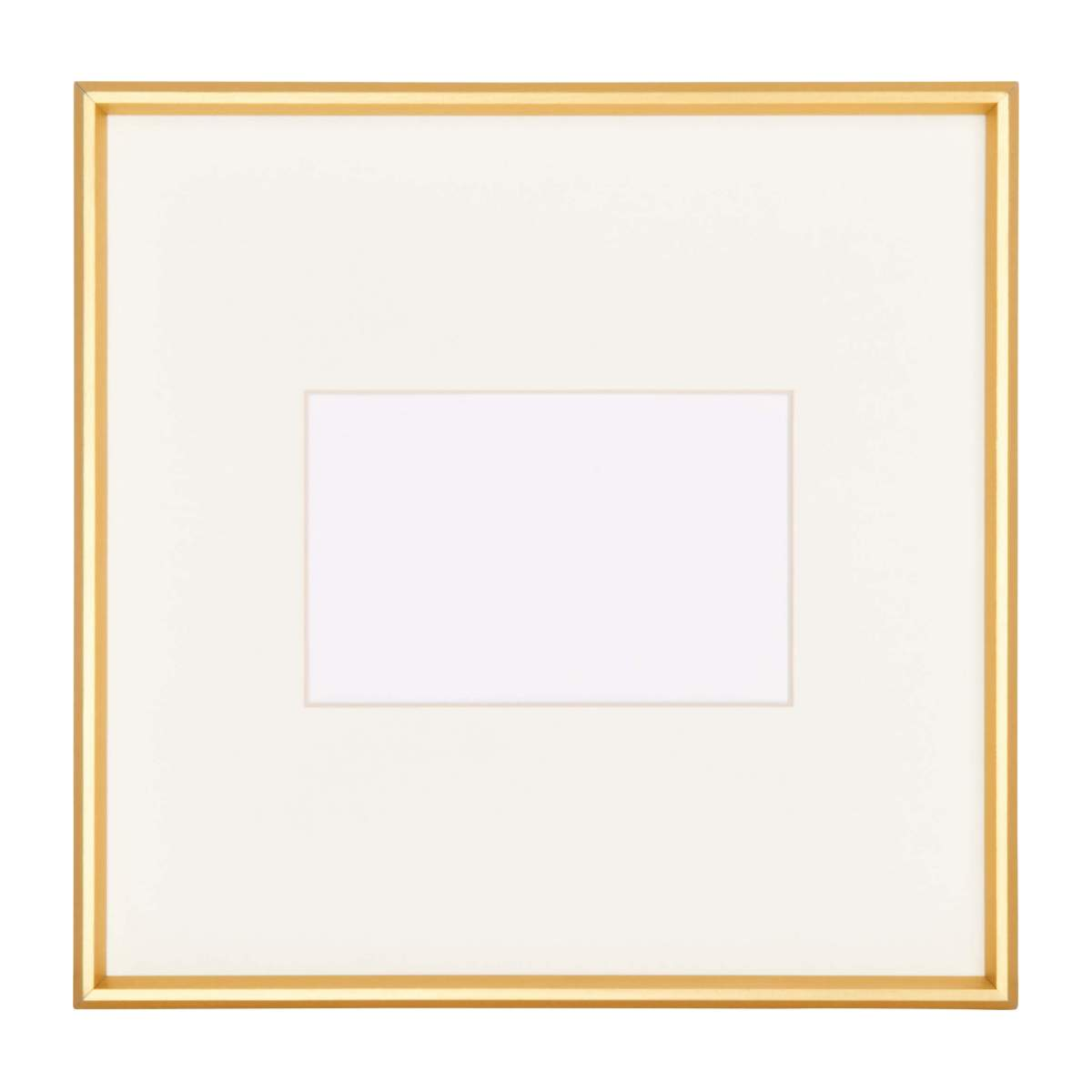 Photo frame made of metal 28X28, golden n°2