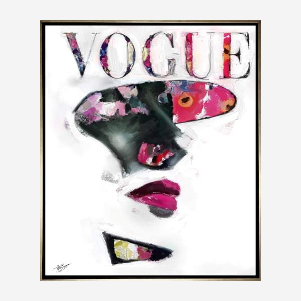 Tableau Vogue lady 1 76,2cm x 91,44cm