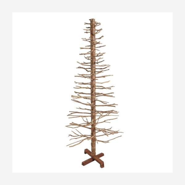 Sapin artificiel imitation bois de cèdre 180cm naturel