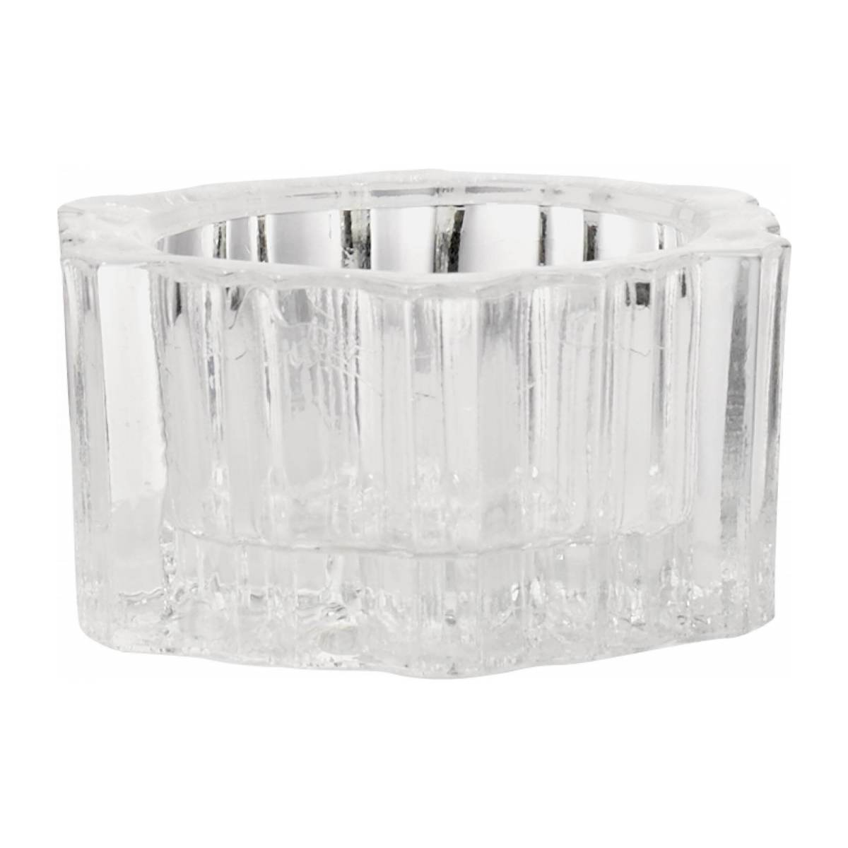 glass candle holders x6 n°1