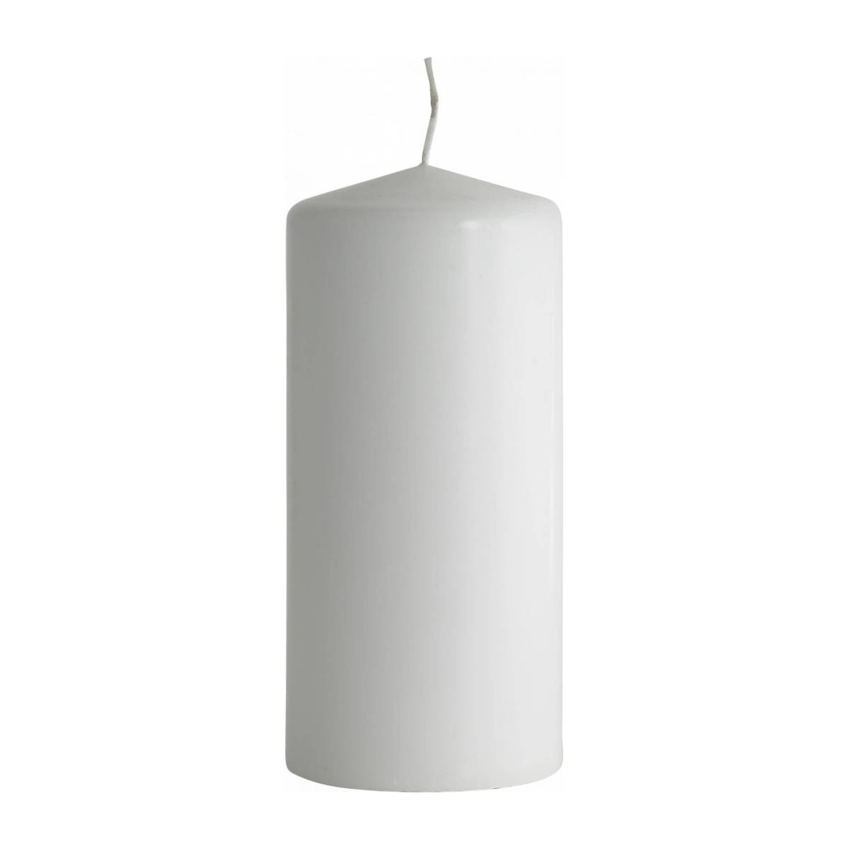 Bougie cylindre 15cm blanche n°1