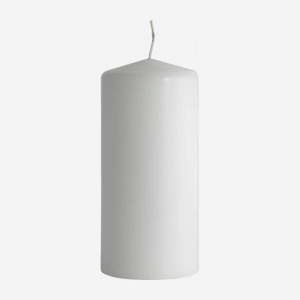 Bougie cylindre 15cm blanche