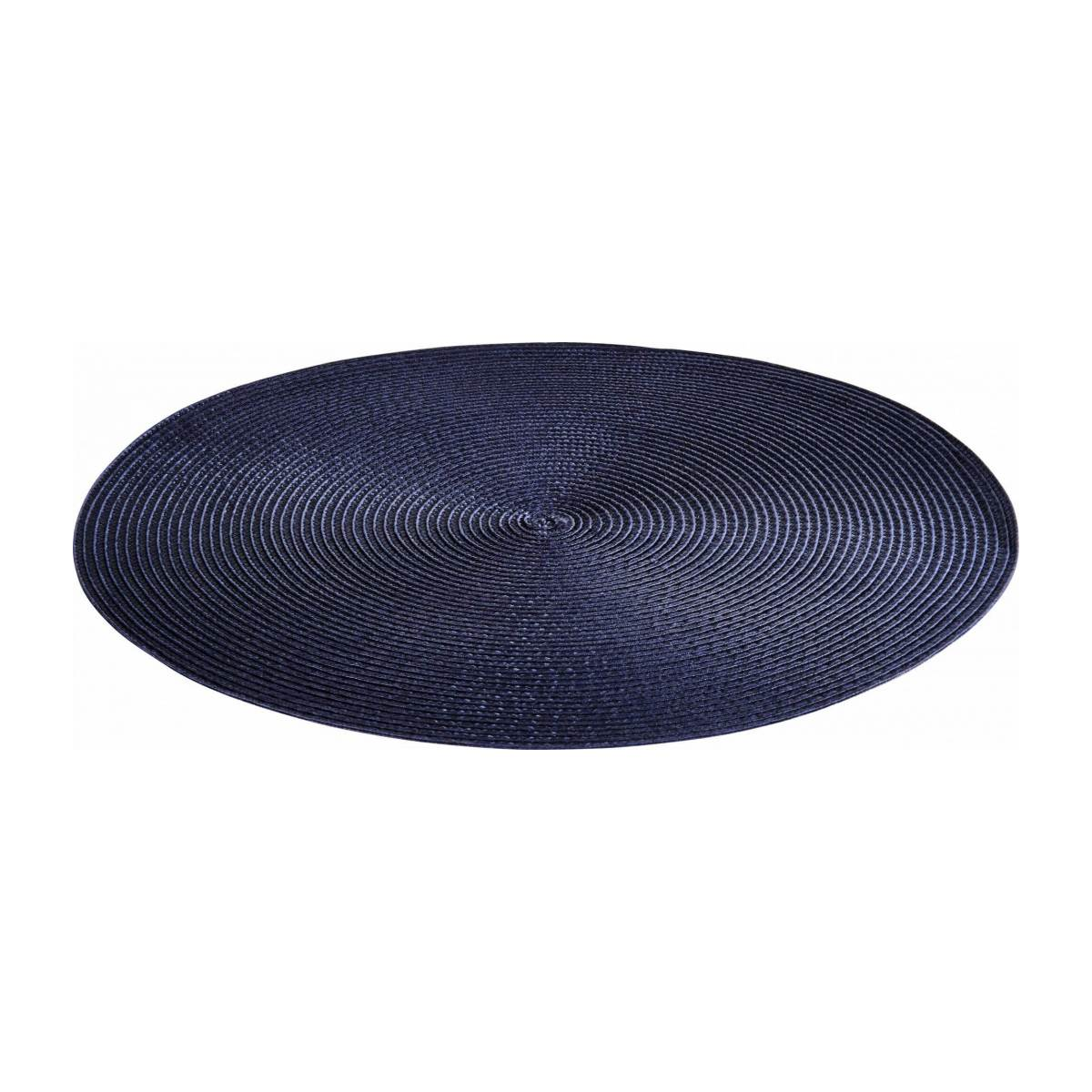 Set de table rond 38cm bleu n°1
