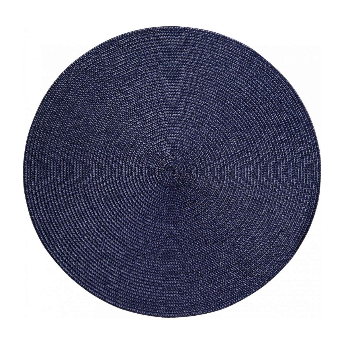 Set de table rond 38cm bleu n°2