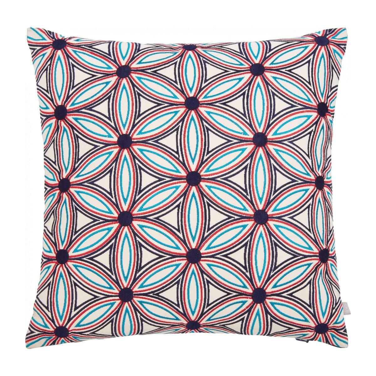 Embroidered cushion made of cotton 45x45cm, with patterns n°2