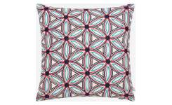 Embroidered cushion made of cotton 45x45cm, with patterns