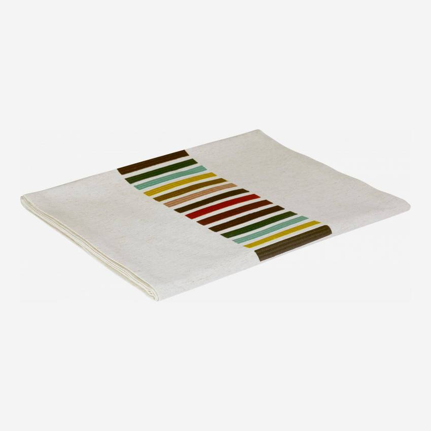 Table runner 40x200cm white with coloured stripes