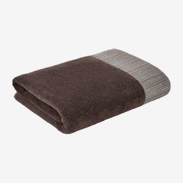 Serviette de toilette 50x100cm marron
