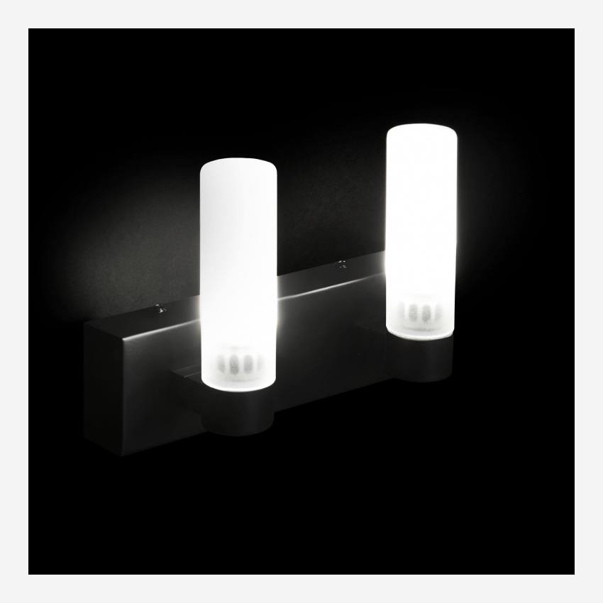 Applique LED norme IP44 matte - 2 lumières