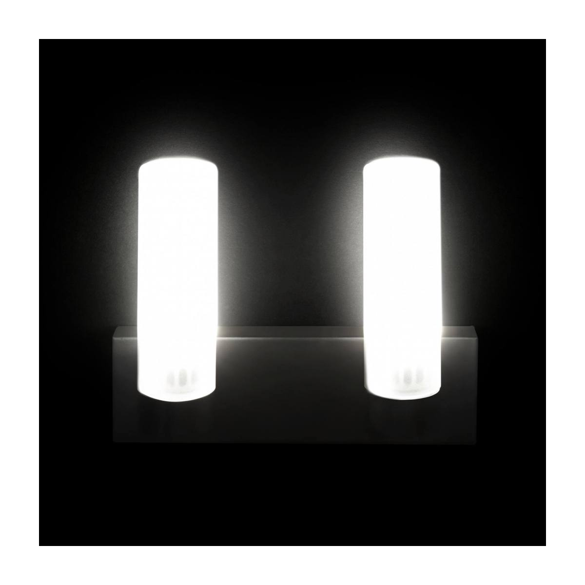 Applique LED norme IP44 matte - 2 lumières n°3