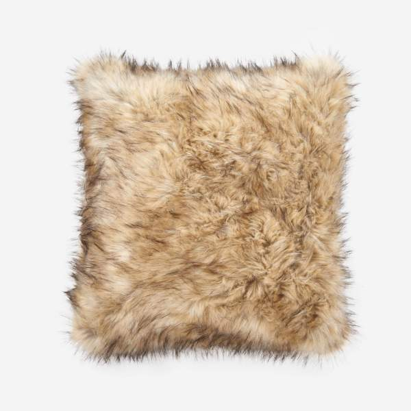 Fake fur cushion 60x60,, beige