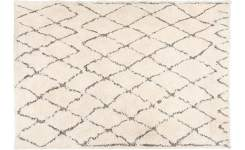 Tufted carpet made of cotton 170x240, black and white