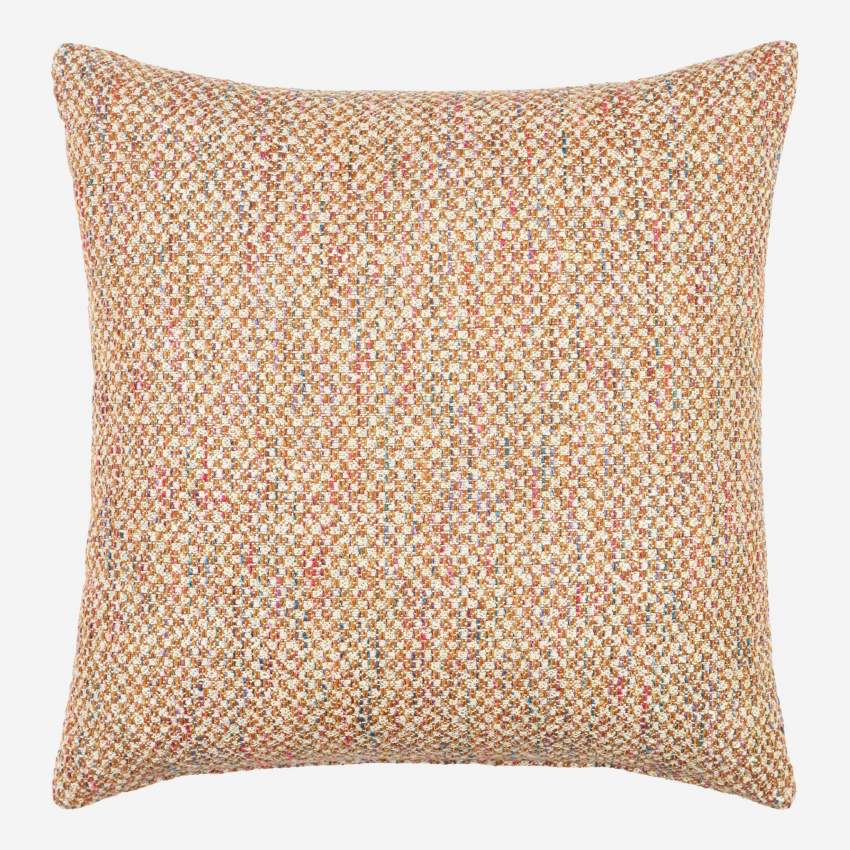 Cushion made of fabric 47x47, orange
