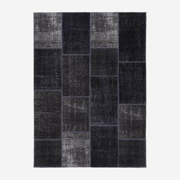 Carpet made of wool 160x220, black