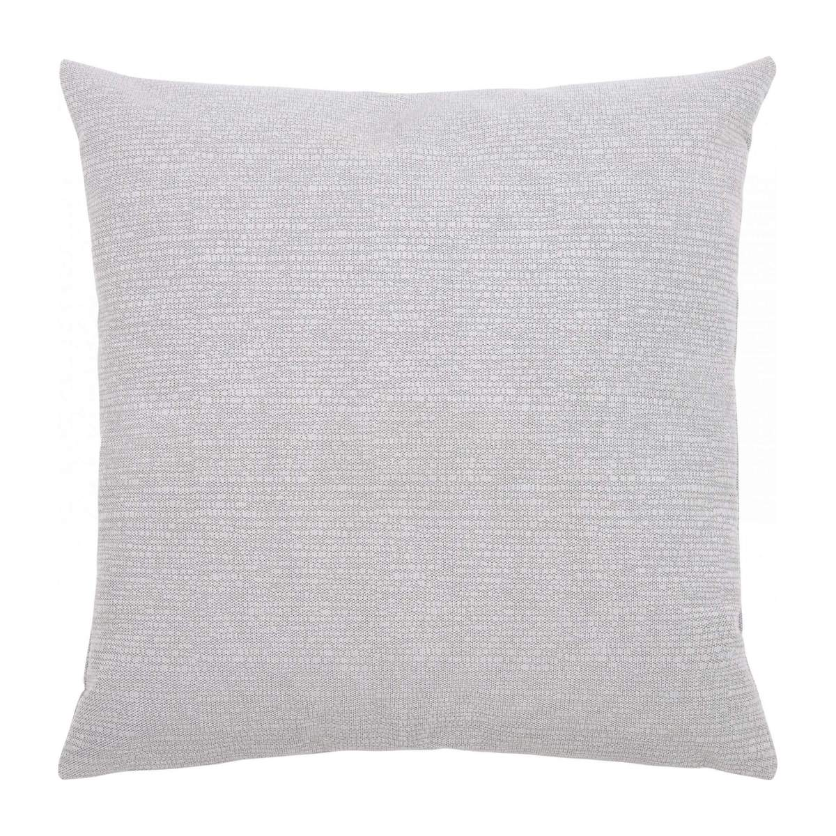 Cushion made of textured velvet 45x45cm, grey n°1