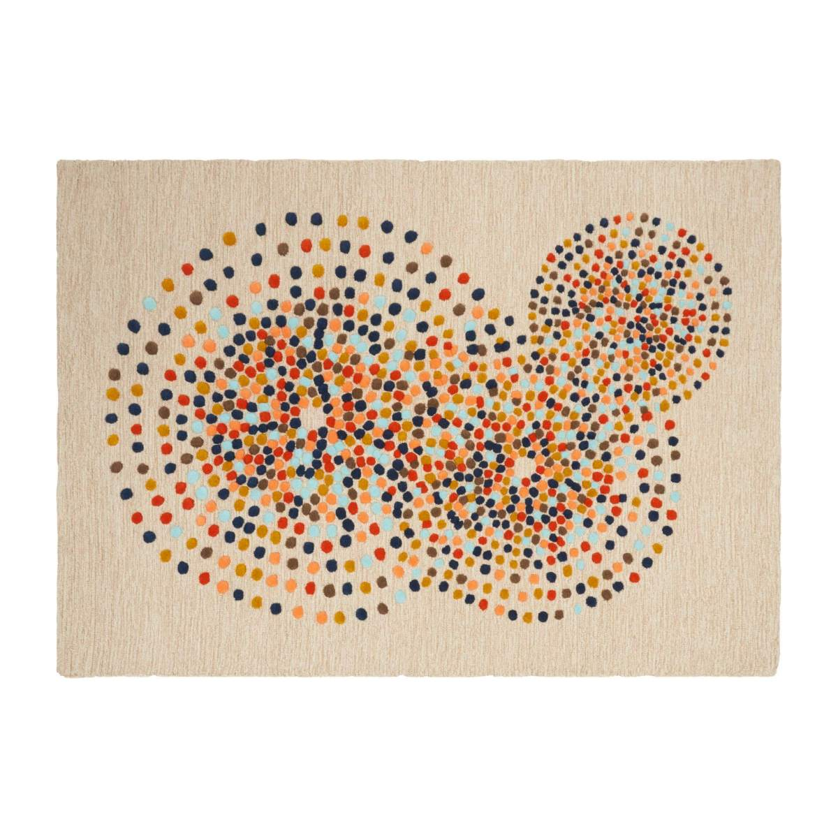 Hand tufted carpet made of wool 250x350cm mulitcolor n°1
