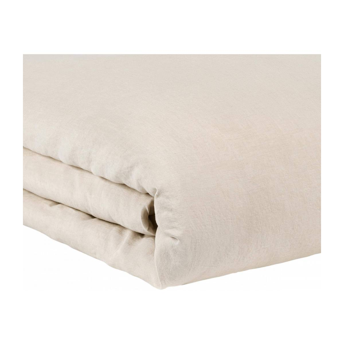 Duvet cover made of flax 200x200cm, natural n°2