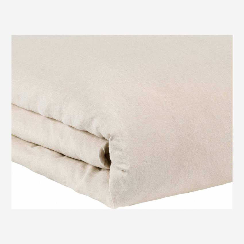 Duvet cover made of flax 260x240cm, natural