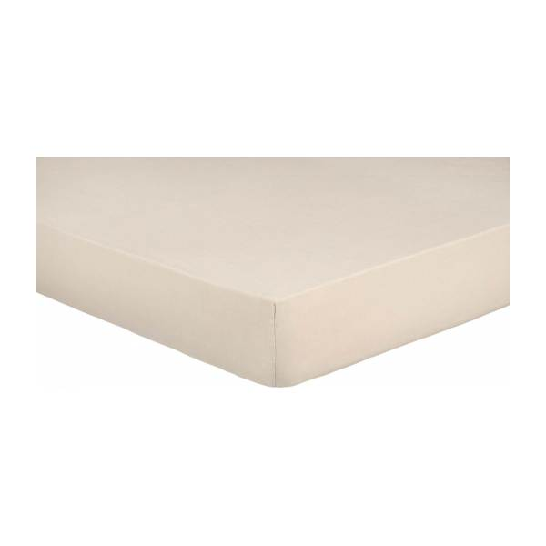 Fitted sheet made of flax 140x200cm, natural
