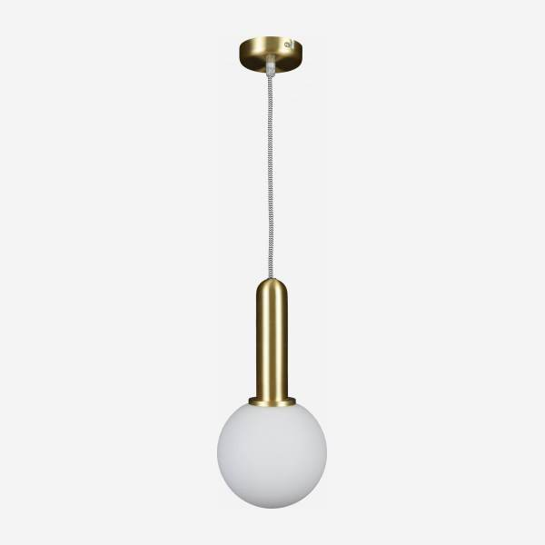 Suspension 1 globe - Laiton