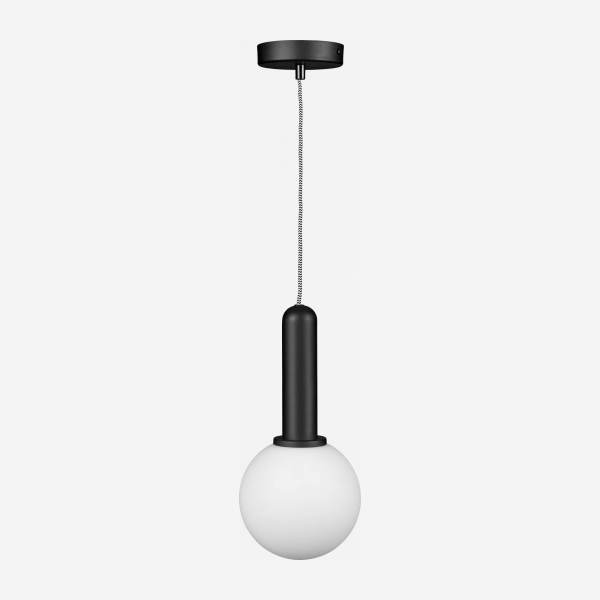Suspension 1 globe - Noire