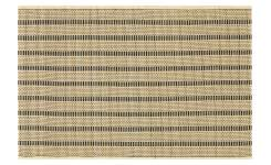 Set of 2 Black Patterned bamboo Placemats