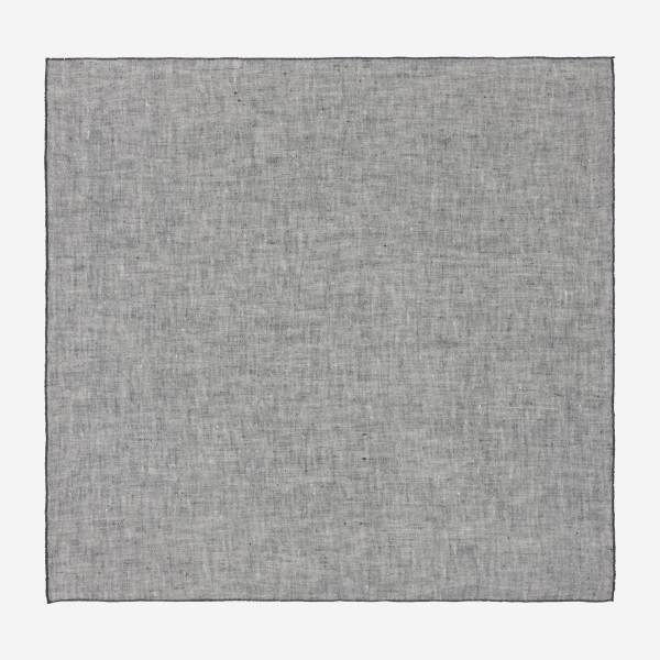 Lot de 2 serviettes de table en lin - 45 x 45 cm - Gris