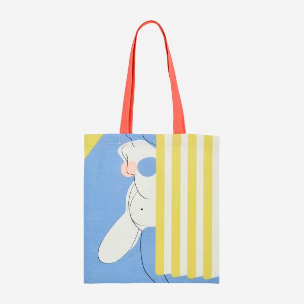 Sac de shopping en coton - 35 x 40 cm - Motif by Floriane Jacques
