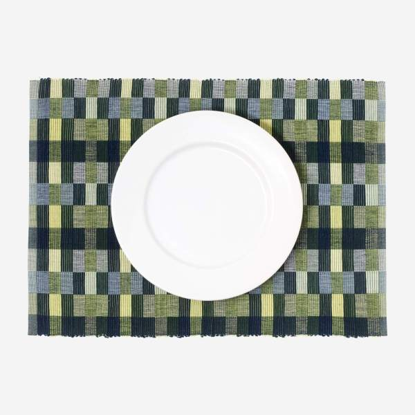 Lot de 2 sets de table - 35 x 50 cm - Vert